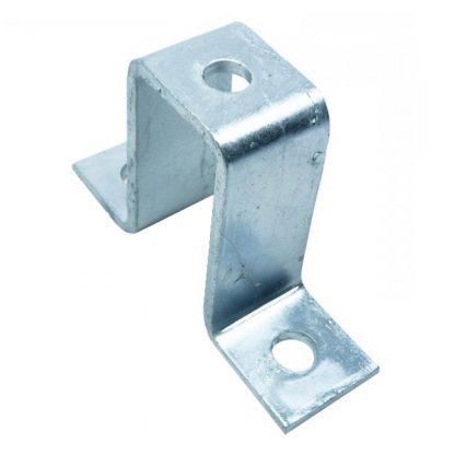 Angle brackets - U shape fittings - 3 holes - for 41x62mm channel - photo