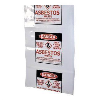 Asbestos removal bags - printed - photo