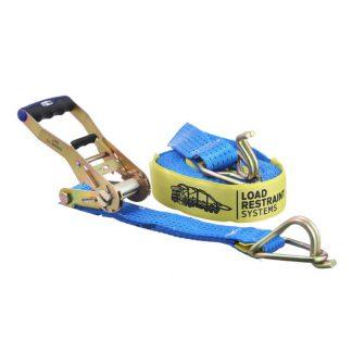 Load restraint ratchet tie down strap - 2500kg lashing capacity - photo