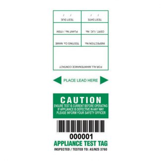 Lumex MM&S appliance test tags - NSW - photo
