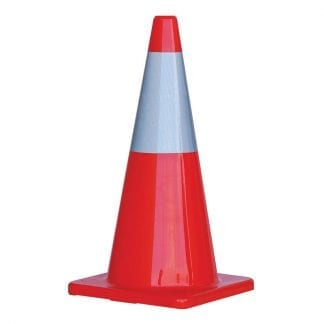 ProChoice high visibility traffic cones - with reflective strip - photo