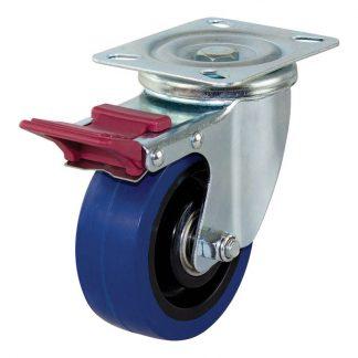 Richmond plate castors - 150kg load capacity - swivel with brake - photo