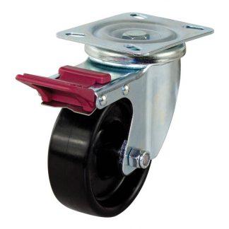 Richmond plate castors - 200kg load capacity - swivel with brake - photo
