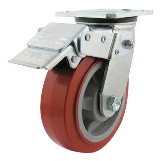 Richmond plate castors - 400kg load capacity - swivel with brake - photo