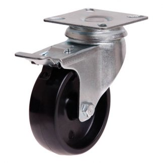 Richmond plate castors - 50kg load capacity - swivel with brake - photo