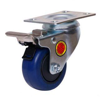 Richmond plate castors - 80kg load capacity - swivel with brake - photo