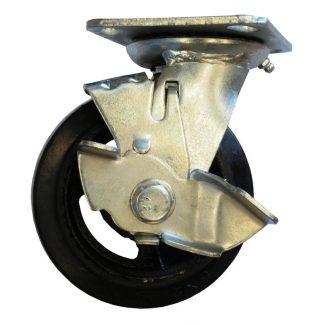 Plate castors - swivel/brake photo