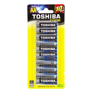 Toshiba alkaline batteries - 1.5 volt - 10 piece photo