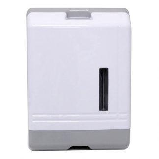 Hand towel dispenser - ultra slim - adjustable - white