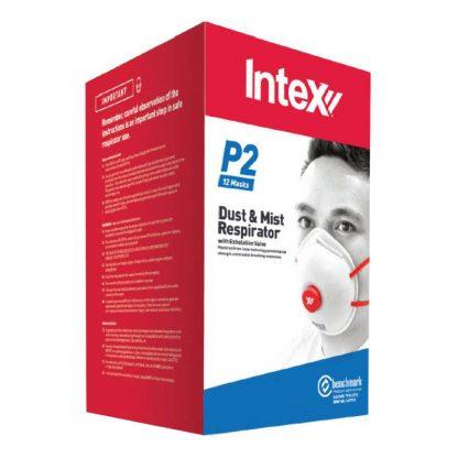 Intex dust masks - P2 respirator with valve - disposable - box